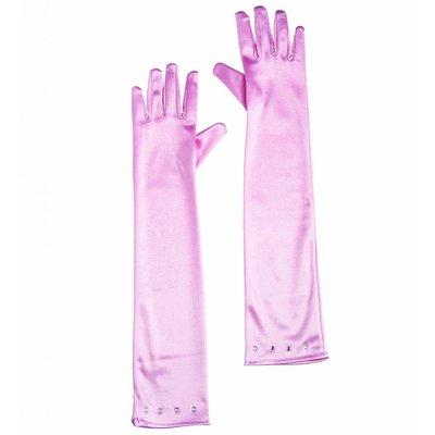 Glamourgirl Handschoenen Satijn Kind Zacht Roze