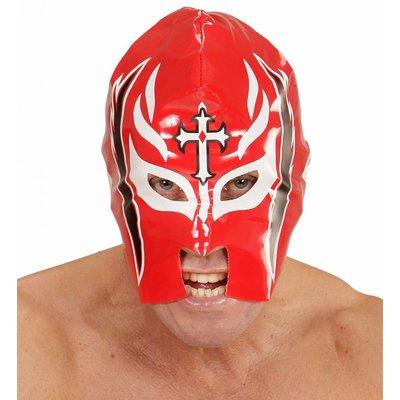 Masker Worstelaar Rood