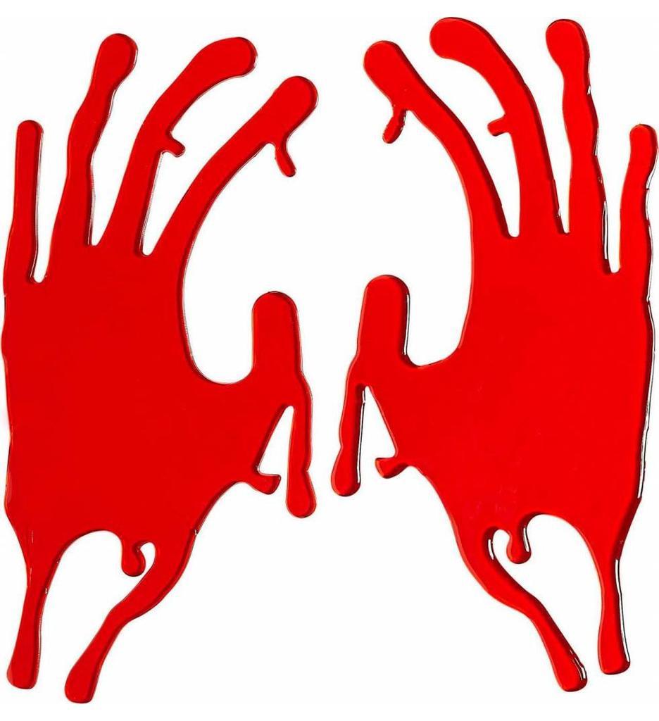 Raamstickers 20Cm Bloederige Hand