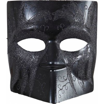 Dodge Masker Zwart Met Glitter