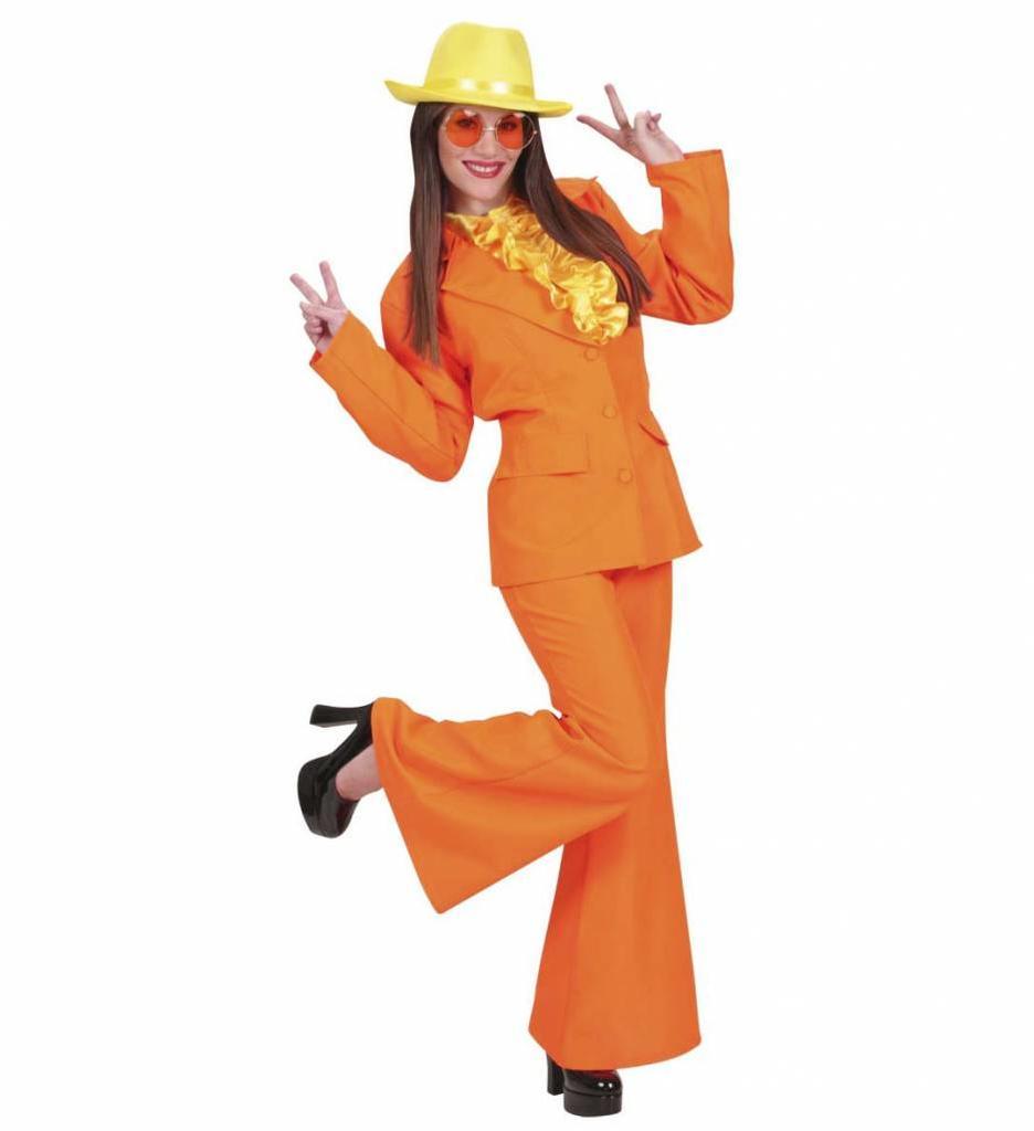 Party Kostuum Dame Neon Oranje