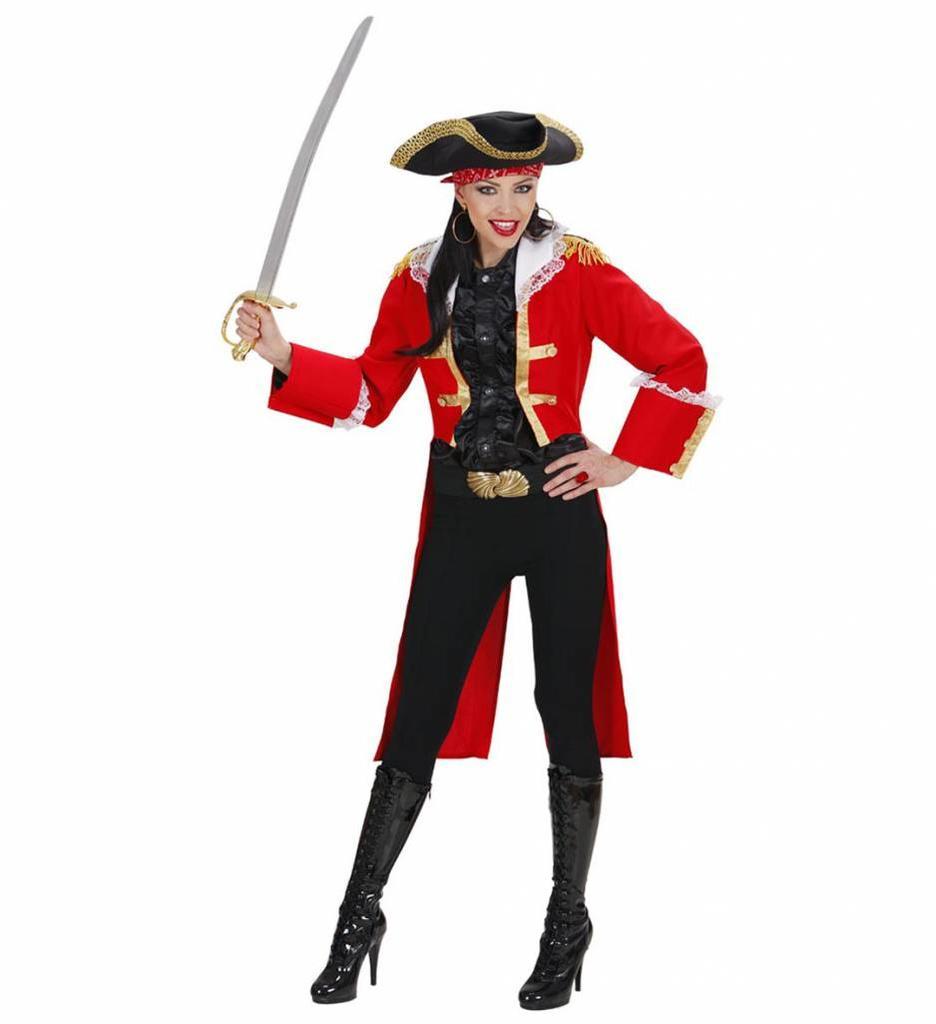 Piratenkapitein Dame In Rood