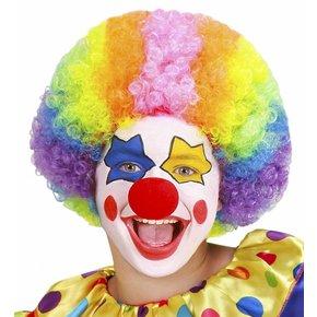 Pruik Clown Multikleuren