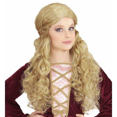 Pruik Kind Middeleeuwen Blond