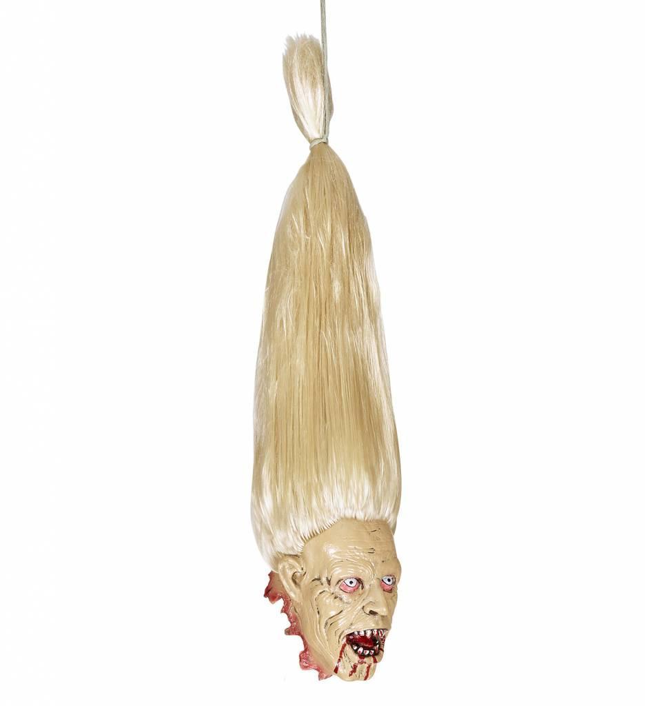 Afgehakt Zombie Hoofd Met Blonde Haren