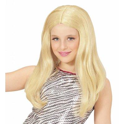 Pruik Hanna Blond Kind
