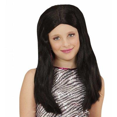 Pruik Hanna Zwart Kind