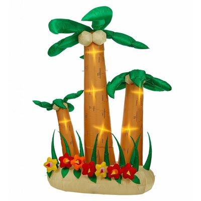 Set 3 Opblaasbare Palmbomen Met Licht 240Cm