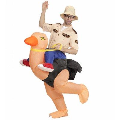 Ondekkingsreiziger Op Struisvogel Opblaasbaar