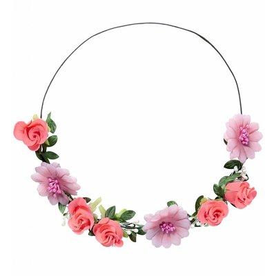 Hoofdband Roze  Bloemen