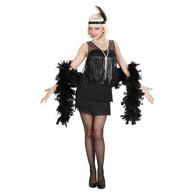 20'S Charleston Flapper Zwart