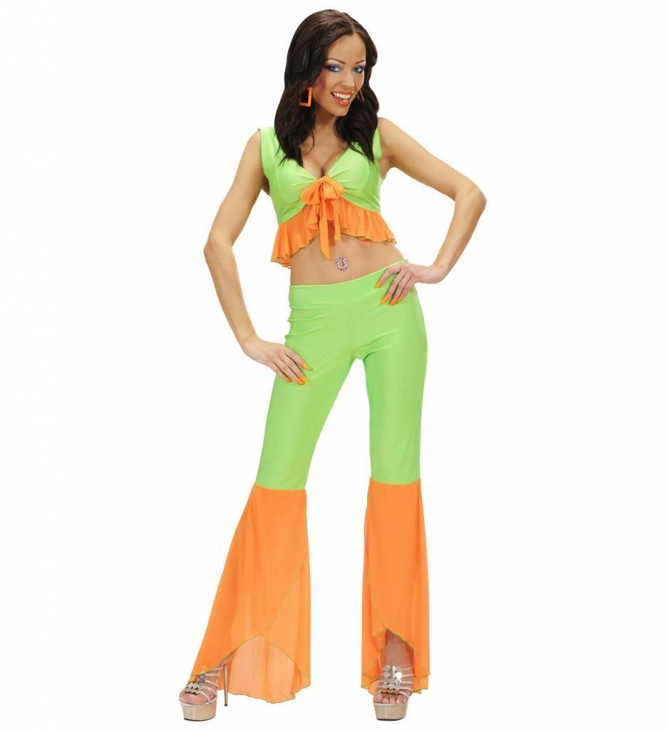 Samba Top En Broek Neon Groen/Oranje