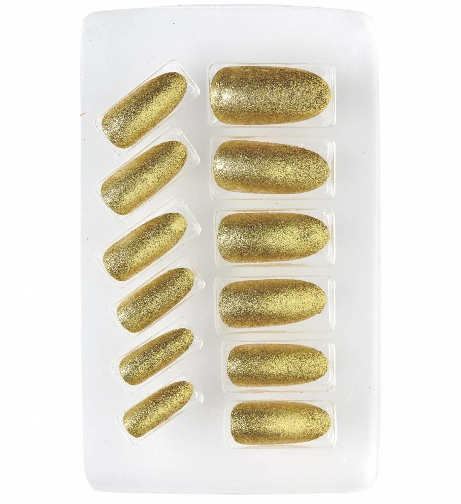 Nagels Iriserend Glitter Zilver