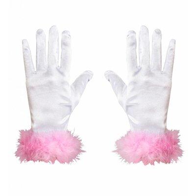 Handschoenen Satijn Kind Marabou