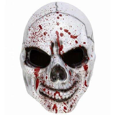 Halfgezicht Masker Bloederige Schedel