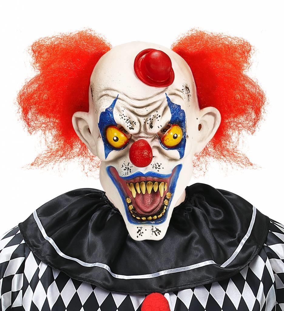 Killer Clown Masker Met Haar En Hoedje