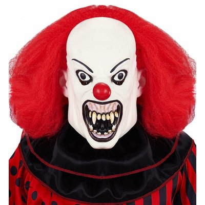 Killer Clown Masker Met Pruik