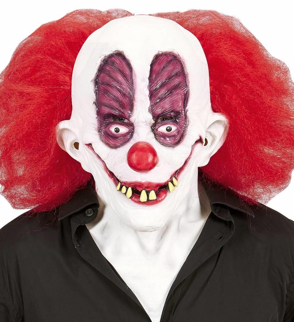 Masker Gekke Clown Met Haar Incl. Nek