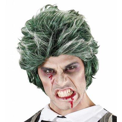 Pruik Zombie Man Groen