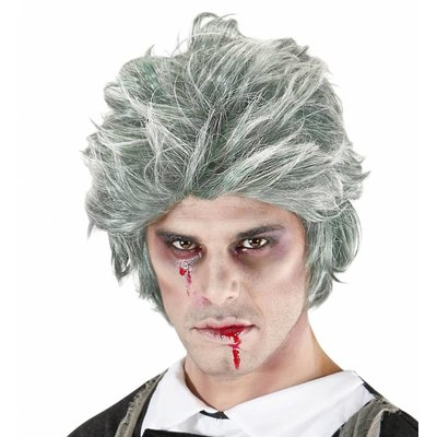 Pruik Zombie Man Grijs