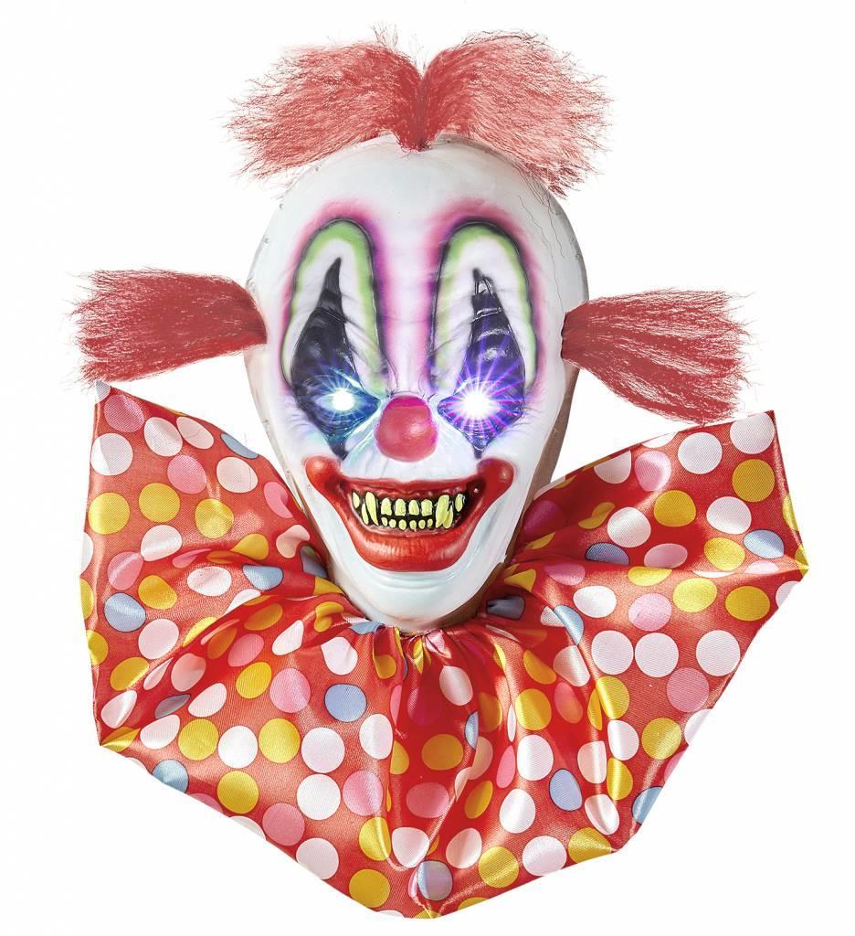 Horror Clown Met Veranderend Licht
