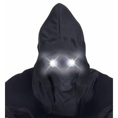 Gezichtsloos Masker Met Kap Wit Licht