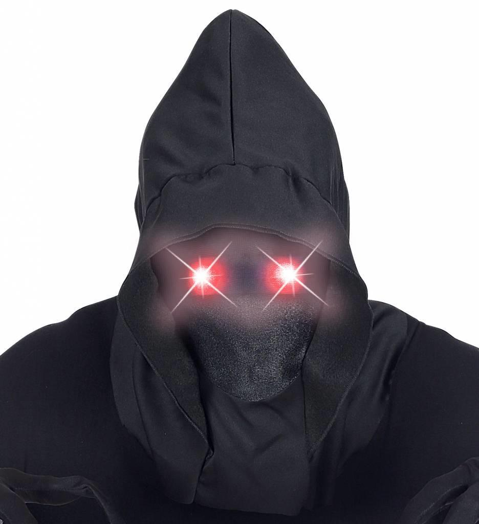 Gezichtsloos Masker Met Kap Rood Licht