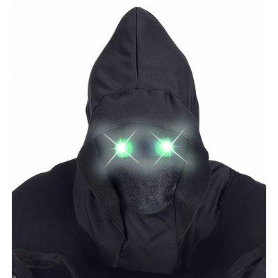 Gezichtsloos Masker Met Kap Groen Licht