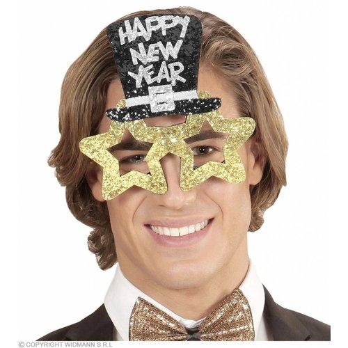 Bril Happy New Year Goud