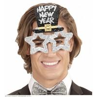 Widmann Bril Happy New Year Zilver