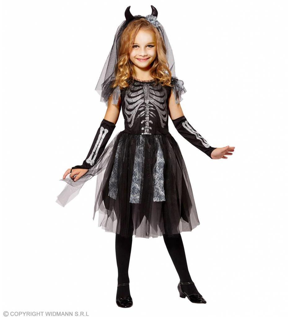 Skelet Bruid Kostuum Kind