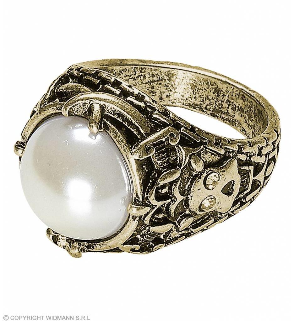 Gouden Ring Met Parel