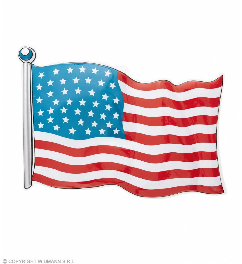 Pvc Vlag Usa 62X44Cm
