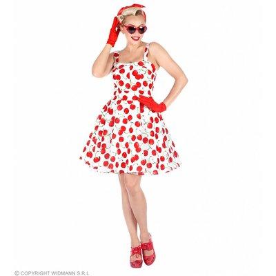 Modejurk 50'S Kersen Wit