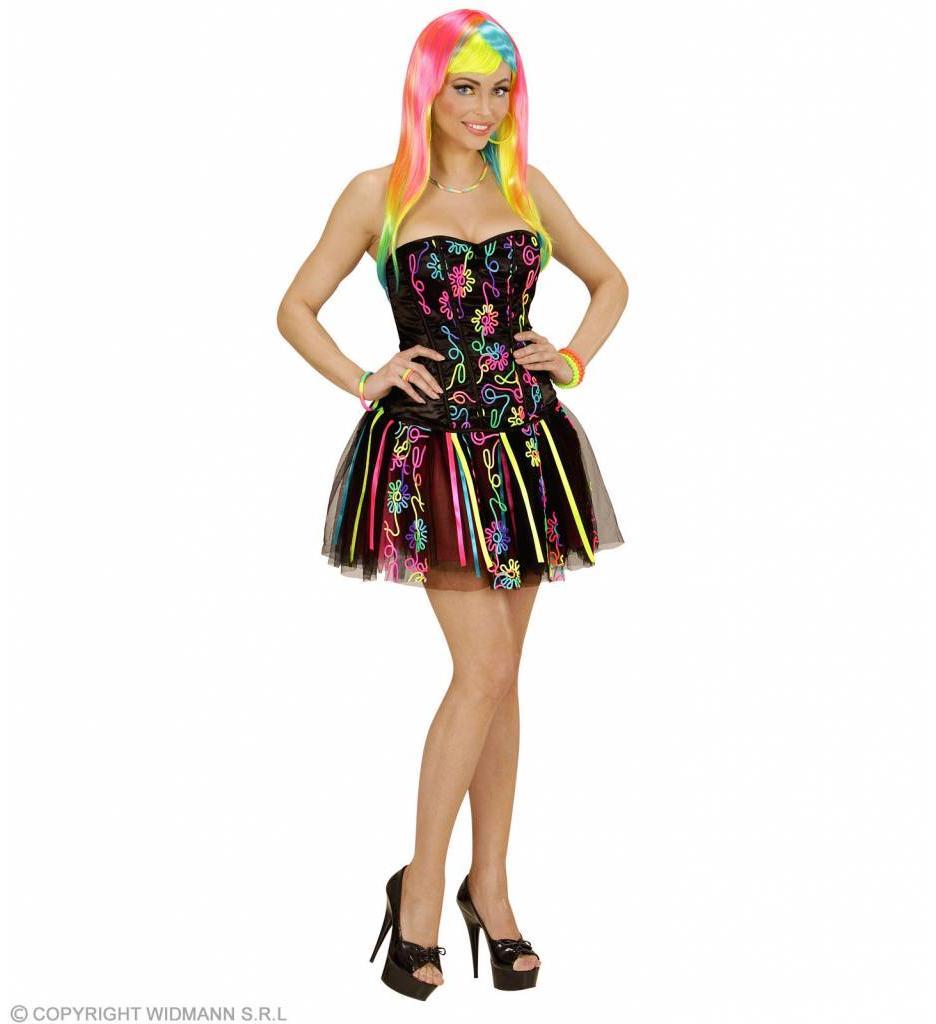 Fantasie Meisje Neon Regenboog