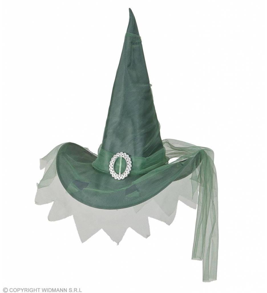 Heksenhoed Met Tule Groen