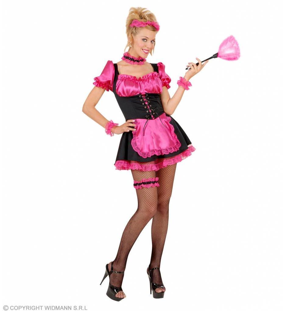 Kamermeisje Zwart/Roze