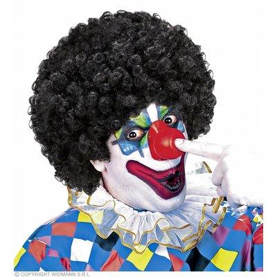 Clownpruik Krullen Zwart