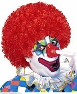 Clownpruik Krullen Rood