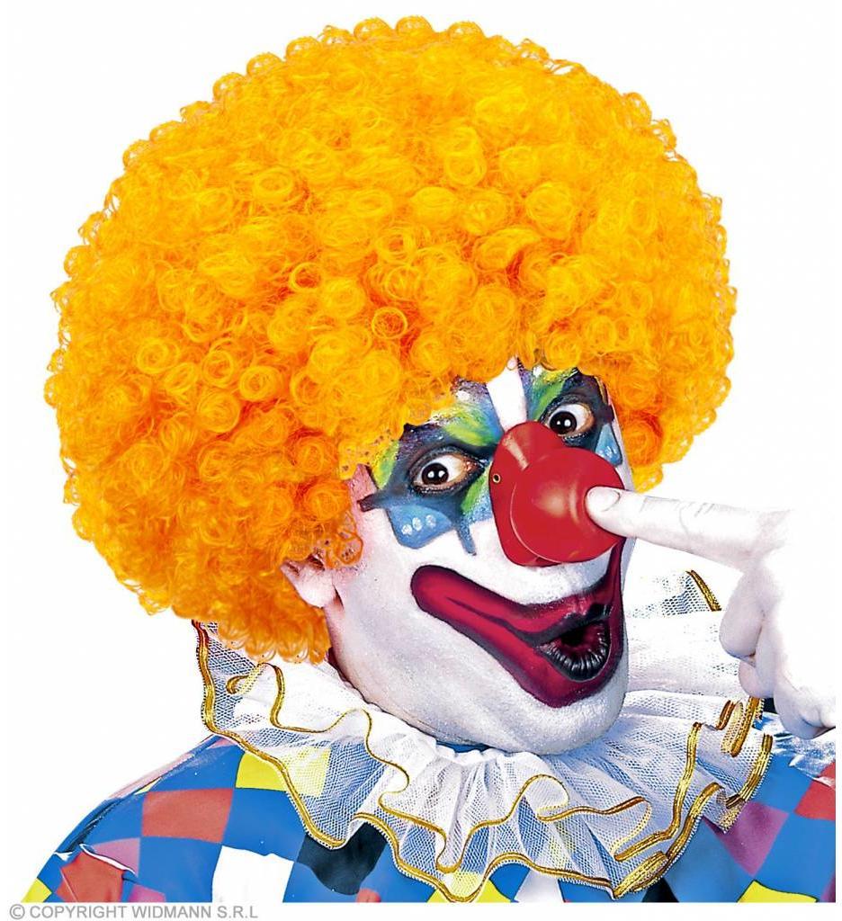 Clownpruik Krullen Oranje