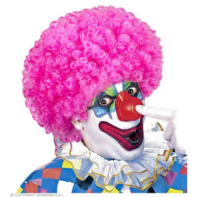 Clownpruik Krullen Roze