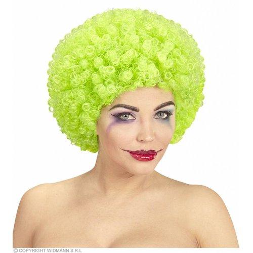 Clownpruik Krullen Groen