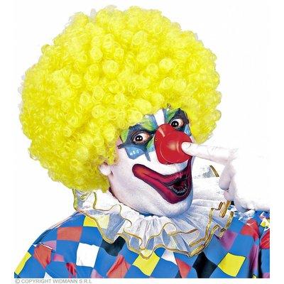 Clownpruik Krullen Geel