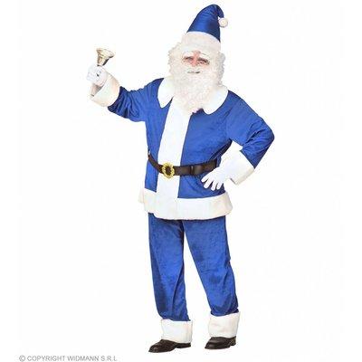 Kerstman Luxe Uitvoering Fluweel Blauw