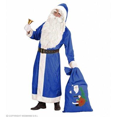 Kerstman Luxe Uitvoering Lang Fluweel Blauw