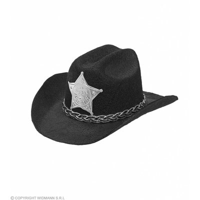 Mini Cowboyhoed Zwart