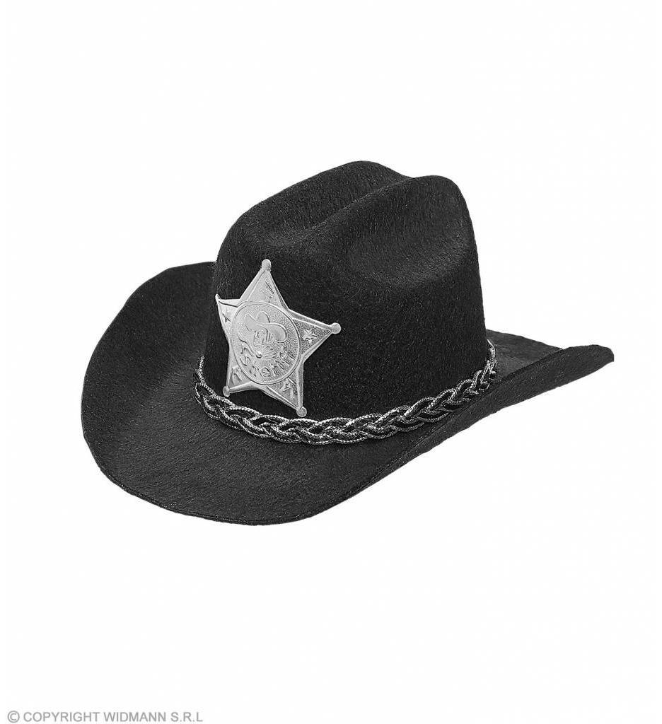 Mini Cowboyhoed Zwart