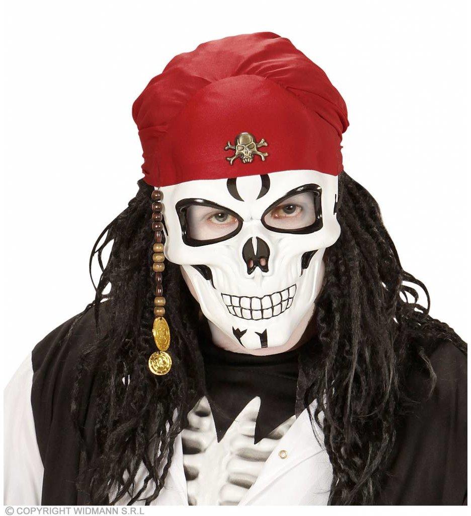 Piraten Schedel Masker Met Baard