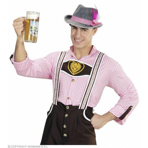 Beierse Fedora Met Roze Veren