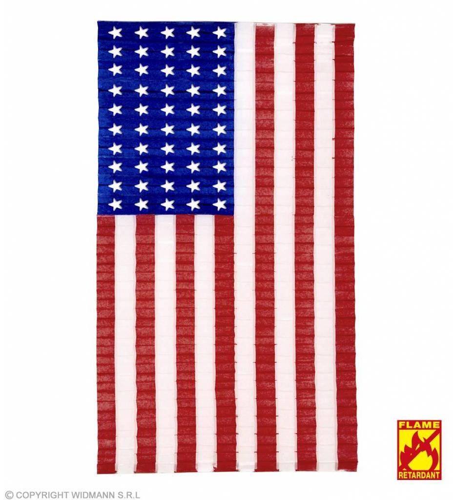 Geplooide Vlag Usa 68X122Cm
